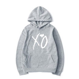 Wholesale xo resale online - Print Casual Hoodie XO Hoodie Hip hop Men Fashion Street For Fashion And Women Sweatshirt Harajuku Pullover Top Urnng