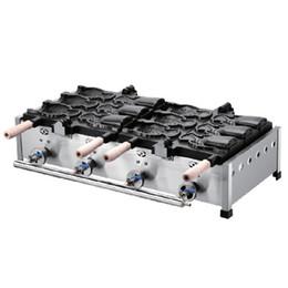 Used Ice Cream UK - Commercial Use Gas Big 6pcs Ice Cream Taiyaki Fish Waffle Maker Machine Baker Iron Taiyaki Machine
