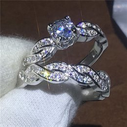 $enCountryForm.capitalKeyWord Australia - Shining Womens 925 Sterling Silver Engagement Ring Wedding Band 1.5ct Diamond Anniversary Promise Bridal Jewelry Set Size 5-12
