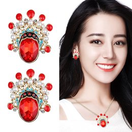 $enCountryForm.capitalKeyWord Australia - Chinese Style Beijing Opera Face Mask Necklace Fashion Hip Hop Personality Red Crystal Zircon Necklace Jewelry