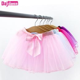 $enCountryForm.capitalKeyWord Australia - Ballet Tutu Baby Girls Ballet Skirt Pull On Tulle Skirts White Black Pink Leotards Fluffy Tutus