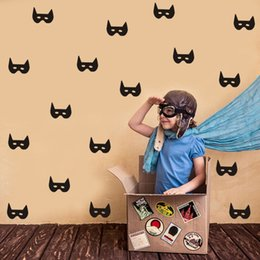 Nursery Wall Stickers For Boys Australia - DCTOP Bat Masks Wall Decals Superhero Removable Vinyl Stickers Boys Wallpaper For Themed Room Kids Bedroom Nursery Decor