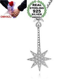 $enCountryForm.capitalKeyWord NZ - OMHXZJ Wholesale Fashion Sun Octagon Star Woman Girl Gift Zircon 925 Sterling Silver Pendant Charms PE93 ( NO Chain Necklace )
