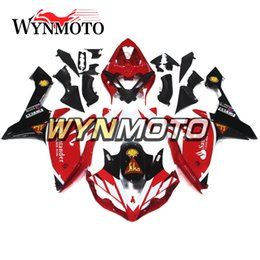 $enCountryForm.capitalKeyWord Australia - Santander White Red Black Sportbike Plastic Injection Casing For Yamaha YZF1000 R1 2007 2008 Complete Fairing Kit R1 07 08 Body Cowling