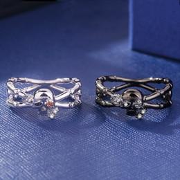 $enCountryForm.capitalKeyWord Australia - ERLUER Romantic Skull Rose Crystal CZ Ring Silver Skeleton Bone Rings for Women Engagement Jewelry Trendy Birthday Love Gift Ring