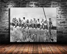 $enCountryForm.capitalKeyWord Australia - Construction Workers In New York ,1 Pieces Home Decor HD Printed Modern Art Painting on Canvas (Unframed Framed) 24x32.