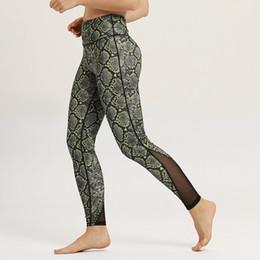 49539098f50e3 Womens Sexy High Waist 3D Digital Snake Skin Print Mesh Panel Yoga Pants  Workout Sport Fitness Capris Leggings