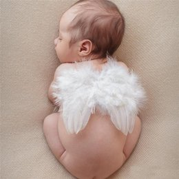 Boys Costume Accessories Dependable Cute Newborn Pink Angel Feather Wings&headband Costume Photo Prop Outfit For Gift Novelty & Special Use