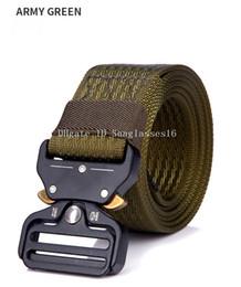 $enCountryForm.capitalKeyWord Australia - 49 Inch Heavy Duty Men Belt Mens Designer Belts Ceinture Army Green Tactical Buckle Zinc Alloy Outdoor Sports Active Trainin Waist Strap
