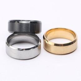 Vente en gros 2019 chaude européenne et américaine de la mode 8mm couple léger en acier inoxydable anneau comme cadeaux livraison gratuite