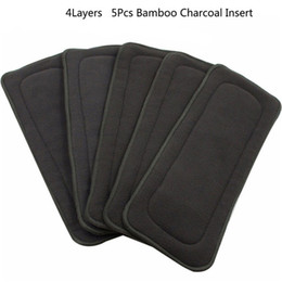 Cloth bamboo online shopping - Reusable Baby Diapers Bamboo Charcoal Washable Diapers Baby Nappies Couche Lavable Insert One Size for Newborn Infant Care