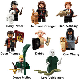 Ingrosso Mini Harry Potter Hermione Granger Cho Chang Draco Malfoy Lord Vold Ron Weasley Dean Thomas Dobby Action Figure Toy Building Block Brick