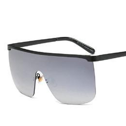 5b8ba2a013 Luxury Fashion Metal Square Large Frame Sunglasses Women Brand Designer  High Quality Personalized punk Sun Glasses Men UV400 FML