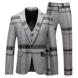 $enCountryForm.capitalKeyWord Australia - Men Suits For Wedding Slim Fit Mariage Formal Designers Men Clothes S-5XL Mens Suits With Pants And Vests SD02