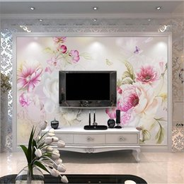 $enCountryForm.capitalKeyWord NZ - custom size 3d photo wallpaper livingroom mural Dazzling Flower Butterfly 3d picture painting sofa TV background wallpaper non-woven sticker