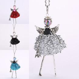 Angels Figures Australia - Necklace Ladies Dance Dolls Necklace Mini Dress Girl Figures Multicolor Pendant Necklace Jewelry Friendship Gift 2019 Retro Angel Girl Doll