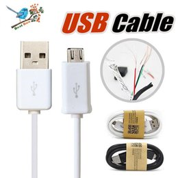 free cell phone data NZ - Micro USB Charger Cable for Samsung Galaxy S4 Note 4 Sync Data Charging Adapter Lead Cord for HTC Cell Phones Universal DHL Free