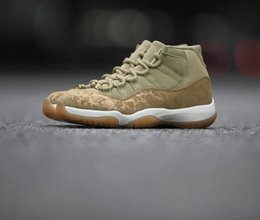 97d085d1ac82 2019 Hot Sale Mvp Jumpman 11 XI Olive Lux Mens Basketball Shoes Dold Pearl  AAA Quality Cheap 11S Sports Designer Sneakers Size 40-46