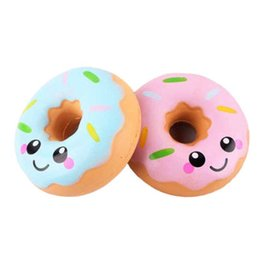 Music Gadgets Australia - Squishies toy 11cm Lovely Doughnut Cream Scented Squishy Slow Rising Squeeze anti stress soft toys funny gadgets kawaii K0222