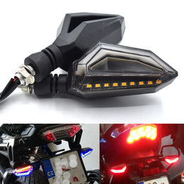 ktm front UK - For Universal Motorcycle 12 LED Turn Signal Lights Blinker Front Rear Lights Motorcycle Indicators Lights