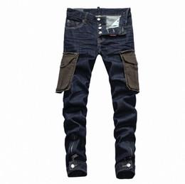 China D2019 Italian brand men jeans fashion high quality men classic jeans brand trousers Men's fashion jeans Small leg pencil pants 28-38 suppliers