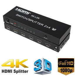 $enCountryForm.capitalKeyWord Australia - 4K*2K HDMI 2x4 + Audio Extractor HDMI Switch Splitter Converter Adapter With Remote Control 2 in 4 out 3D 1080p v1.4 HDTV