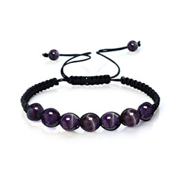 Supernatural braceletS online shopping - Hot Sale mm Bead Natural Crystal Stone Healing Balance Supernatural Lava Reiki Stones Beads Bracelet for Women Men
