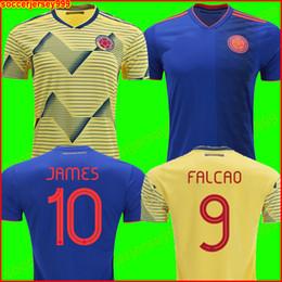 664a3dca9466e Colombia soccer jersey football shirt Футбольная форма Колумбии 2019 copa  футболка Колумбии футболка 19 20 ДЖЕЙМС Родригес Камисета де футбол FALCAO  ...