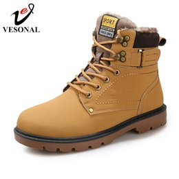 Working Shoes For Men Australia - 2019 Winter Warm Male Boots For Men Casual Shoes Work Adult Quality Walking Rubber Brand Safety Footwear Sneakers