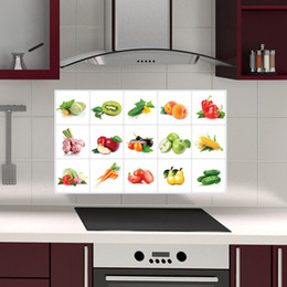 $enCountryForm.capitalKeyWord Australia - Kitchen Tile Stickers Wall Stickers Waterproof Wallpaper Self-Adhesive Home Decoration Accessories Removable Defence Oil Sticker Wall Decal