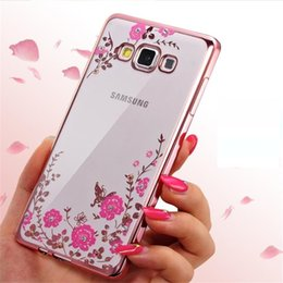 Wholesale phone case Secret Garden Diamond Case for samsung s9 s8 note9 Chic Flower Bling Soft TPU Clear Electroplating Phone Back Cover for Samsung