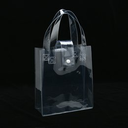 $enCountryForm.capitalKeyWord NZ - Clear PVC cosmetic tote with plastic buckle makeup promotional bag available for custom