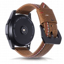 samsung gear smart watch Australia - Genuine Leather Watch Strap For Samsung Gear S3 Smart Watch Band Three Lines Watchband Wrist Strap For gear S3 Classic