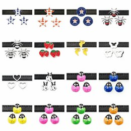 $enCountryForm.capitalKeyWord Australia - Star Spider Heart Dog Butterfly Duck Slide Charms Alloy Enameled Slider For 8mm Bracelet Wristband DIY Jewelry Making