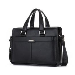 Genuine Leather Handbag Cowhide Shoulder Bag Australia - Genuine Leather Handbag Brand Cowhide Men Briefcase Business Leather Laptop Briefcase Shoulder Bags Men Messenger Travel Bag