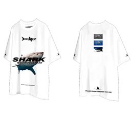 3d shirts shark Australia - Men's & Women's T-Shirts Casual Lovers Sharks 3D Printed Europe and America Style Shirt Fashion Tide Couple Loose Shirts Plus Size S-2XL