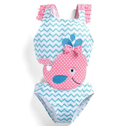 China Baby Girls Swimwear Shark Whale Wavy One piece Swimsuit Kids Clothing Summer Bathing Suit Outfits Swimwear KKA6662 cheap sharks whales suppliers