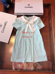 $enCountryForm.capitalKeyWord NZ - 2019 summer baby girls dress Navy style mint green dress children clothing casual fashion dresses kids clothes girls ABD-16