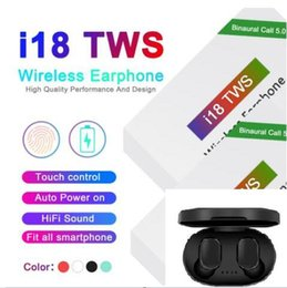 universal power windows UK - i18 TWS Touch5.0 wireless bluetooth headphones support pop window Stereo Earphones earbuds Auto Power ON Auto paring Touch Using