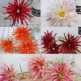 $enCountryForm.capitalKeyWord NZ - Home Decor Decoration Flowers Multi Colors Artificial Crab Claw Chrysanthemum Wedding Hand Held Simulated Flower New Arrival 6 8xh L1