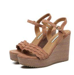 $enCountryForm.capitalKeyWord NZ - Women's New Arrival Summer Wedge Sandals Sexy Luxury Leather Platform Suede Super High Heel Women's Shoes