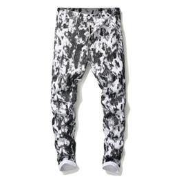 $enCountryForm.capitalKeyWord UK - Newest Mens 3D Digital Printed White jeans Fashion Designer Straight Leg Slim Fit Denim Pants Hip Hop Cheap Trousers Big Size 5640