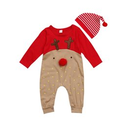 bc09ab1a763 Boys Christmas Outfits Australia - Newborn Baby Girls Boys Christmas Long  Sleeve Deer Romper Jumpsuit Playsuit