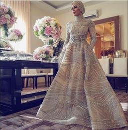 $enCountryForm.capitalKeyWord Australia - Evening dress Ball Gown High Collar Long Sleeve Tulle Crystal Pocket Nude Beaded Classic Customizable in any size Modern 1 Customizable