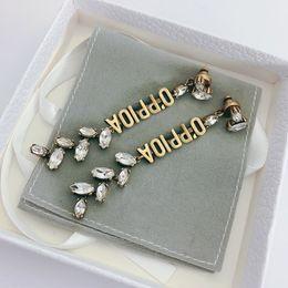 ファッションブランドは切手CZデザイナーイヤリング女性の結婚式の恋人たちのギフトの婚約贅沢な宝石類の箱HB513