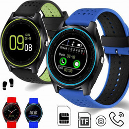 Cute korean braCelets online shopping - Cute Smart Watch Phone V99 With Camera SIM TF Card Slot Fitness Tracker Bracelet Pedometer Sleep Monitor Watch Band Bangle For IOS Android