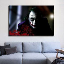 $enCountryForm.capitalKeyWord NZ - Joker It's a Funny World We Live In Marvel Wallpaper Art Canvas Poster Painting Wall Picture Print For Home For Living Bedroom Decoration