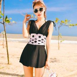 $enCountryForm.capitalKeyWord Australia - V Neck One Piece Swimsuits For Women Girls Beach Bathing Suits High Waist Hollow Sexy Thong Swim Suits