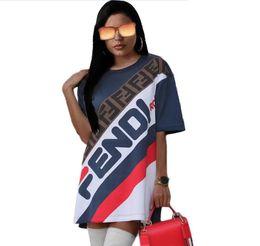 T Shirts S Print Letters Australia - 2019 Fashion style women casual printed letter shirts short-sleeve sports t shirts dress size S~XXL