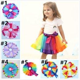 $enCountryForm.capitalKeyWord Australia - 2019 Kids Rainbow TUTU Skirt Dress Children Girls Gauze Ball Gown Colorful Dance Ballet Pettiskirt Party Dress 6 color
